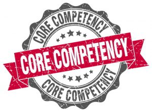 Sign showing 'core competency'