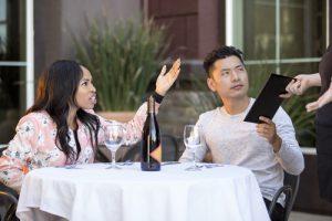 Couple complaining in restaurant