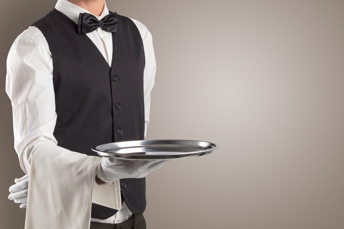 Waiter With Silver Plate