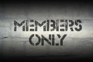 Members only written on a wall