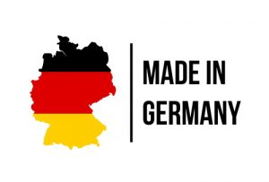 Germany painted in black-red-yellow colors