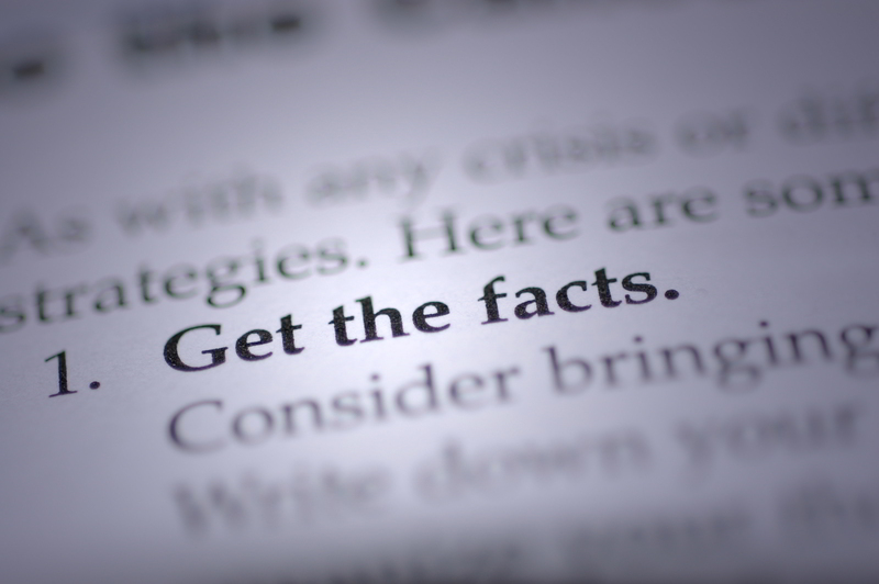 "Header saying ""Get the Facts"" in a book"